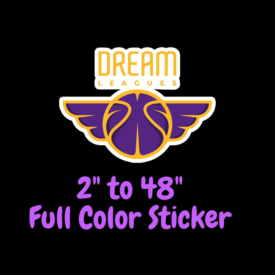 Los Angeles Lakers Full Color Vinyl Sticker ; Hydroflask decal ; Laptop Decal ; Yeti Decal Cell phone Decal Cornhole Decal Vinyl Car Decal
