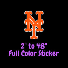 Load image into Gallery viewer, New York Mets Full Color Vinyl Sticker ; Hydroflask decal  Laptop Decal Yeti Decal Cell phone Decal Cornhole Decal Vinyl Car Decal