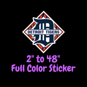Detroit Tigers Full Color Vinyl Sticker ; Hydroflask decal  Laptop Decal Yeti Decal ; Cell phone Decal Cornhole Decal Vinyl Car Decal