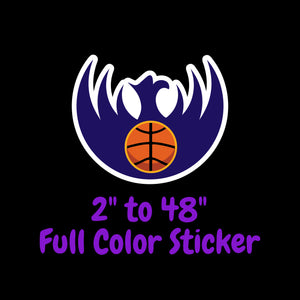 Phoenix Suns Full Color Vinyl Sticker ; Hydroflask decal Laptop Decal ; Yeti Decal Cell phone Decal Cornhole Decal Vinyl Car Decal