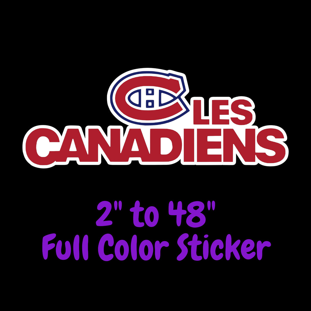 Montreal Canadiens Full Color Vinyl Sticker ; Hydroflask decal ; Laptop Decal  Yeti Decal Cell phone Decal Cornhole Decal Vinyl Car Decal
