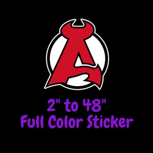 New Jersey Devils Full Color Vinyl Sticker ; Hydroflask decal ; Laptop Decal  Yeti Decal Cell phone Decal Cornhole Decal Vinyl Car Decal