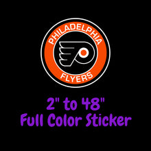 Load image into Gallery viewer, Philadelphia Flyers Full Color Vinyl Sticker ; Hydroflask decal ; Laptop Decal  Yeti Decal Cell phone Decal Cornhole Decal Vinyl Car Decal