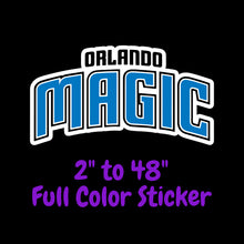 Load image into Gallery viewer, Orlando Magic Full Color Vinyl Sticker ; Hydroflask decal Laptop Decal ; Yeti Decal Cell phone Decal Cornhole Decal Vinyl Car Decal