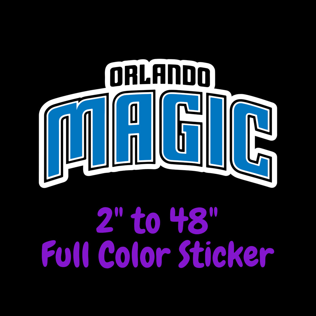 Orlando Magic Full Color Vinyl Sticker ; Hydroflask decal Laptop Decal ; Yeti Decal Cell phone Decal Cornhole Decal Vinyl Car Decal