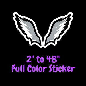 Philadelphia Eagles Full Color Vinyl Sticker ; Hydroflask decal ; Laptop Decal ; Yeti Decal Cell phone Decal Cornhole Decal Vinyl Car Decal
