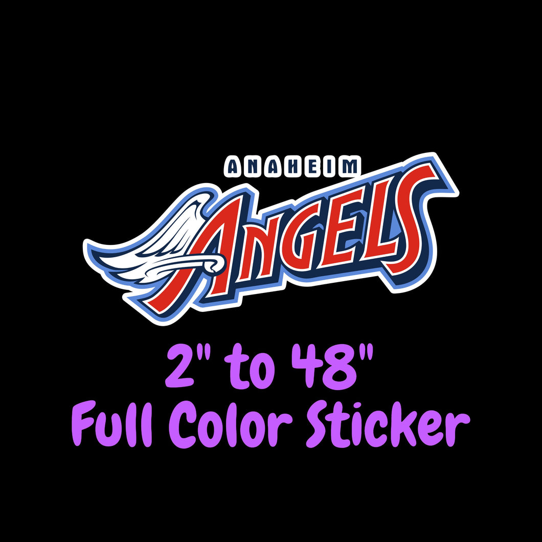 Los Angeles Angels Full Color Vinyl Sticker ; Hydroflask decal ; Laptop Decal ; Yeti Decal Cell phone Decal Cornhole Decal Vinyl Car Decal