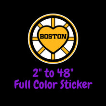 Load image into Gallery viewer, Boston Bruins Full Color Vinyl Sticker ; Hydroflask decal ; Laptop Decal ; Yeti Decal Cell phone Decal Cornhole Decal Vinyl Car Decal