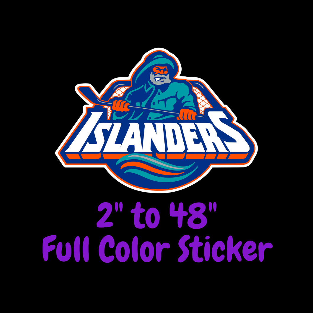 New York Islanders Full Color Vinyl Sticker ; Hydroflask decal ; Laptop Decal  Yeti Decal Cell phone Decal Cornhole Decal Vinyl Car Decal