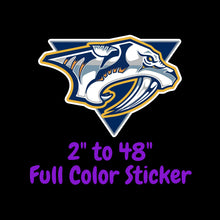 Load image into Gallery viewer, Nashville Predators Full Color Vinyl Sticker ; Hydroflask decal ; Laptop Decal  Yeti Decal Cell phone Decal Cornhole Decal Vinyl Car Decal
