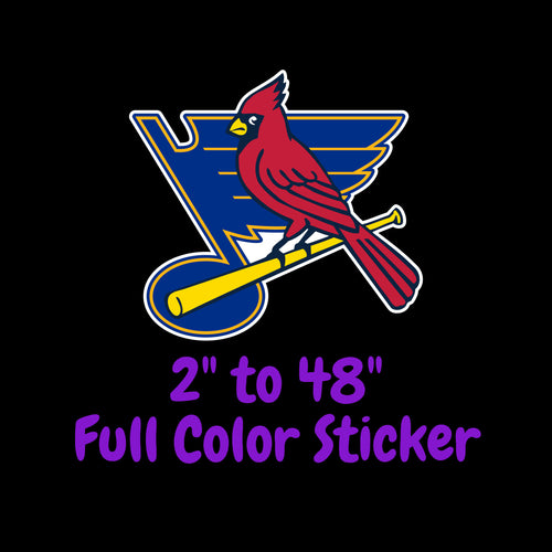 St. Louis Cardinals and Blues Full Color Vinyl Sticker ; Laptop Decal ; Yeti Decal Cell phone Decal Cornhole Decal Vinyl Car Decal