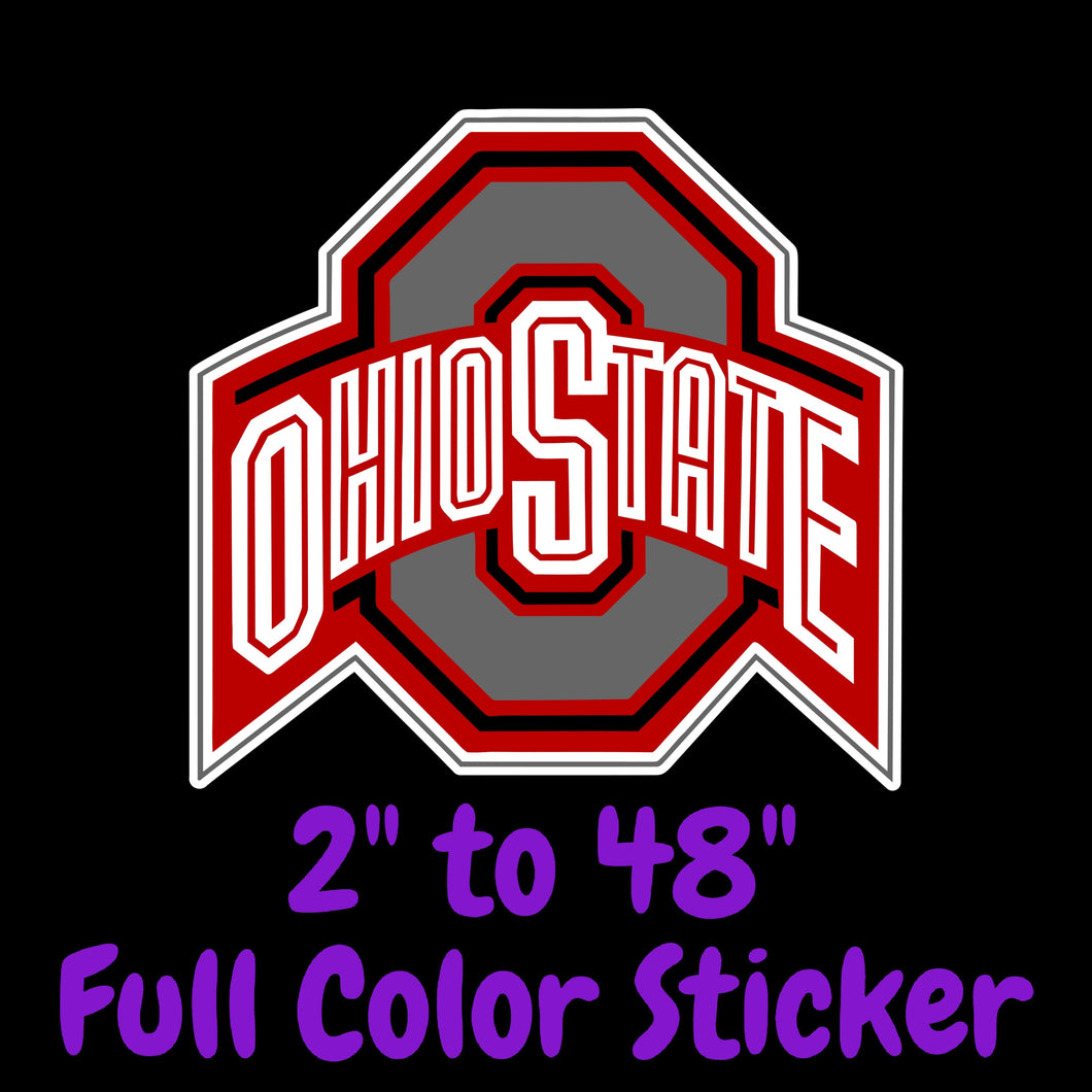 Ohio State Buckeyes Full Color Vinyl Decal