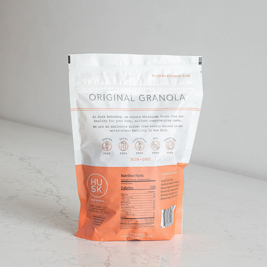 Husk Bakery Original Granola Package Back