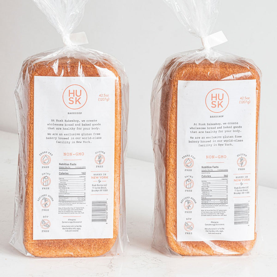 Husk Gluten Free Blonde Bread Back Nutritional's