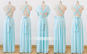 Pale Blue Infinity Bridesmaid Dresses,Convertible Dresses, Multiway Wrap Dresses - NICEOO