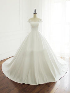 Simple White Off Shoulder A Line Wedding Dresses Best Bride Gown
