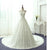 White A Line Strapless Lace Cathedral Train Best Wedding Dresses