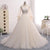 Off Shoulder Long Sleeves A Line Tulle Wedding Dresses Best Bride Gown - NICEOO