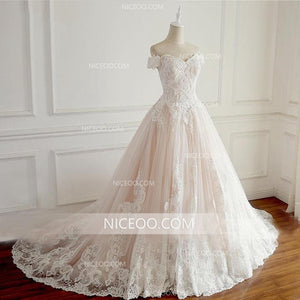 A Line Off Shoulder Sweetheart Lace Wedding Dresses Best Bride Gown