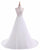 A Line Sleeveless Open Back Chiffon Wedding Dresses Best Bride Gown - NICEOO