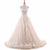Round Neck Sleeveless Open Back Tulle Wedding Dresses Best Bride Gown - NICEOO