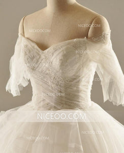 A Line Off Shoulder Sweetheart Backless Wedding Dresses Best Bride Gown