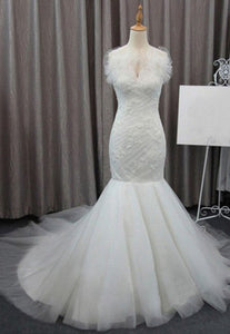 Mermaid White Off Shoulder Sweetheart Wedding Dresses Best Bride Gown - NICEOO
