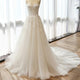Simple A Line Sweetheart Open Back Tulle Wedding Dresses Best Bride Gown
