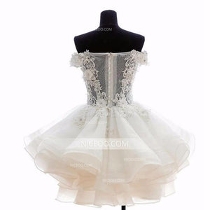 Sweet A Line Off Shoulder Organza Mini Homecoming Dresses Cocktail Dresses