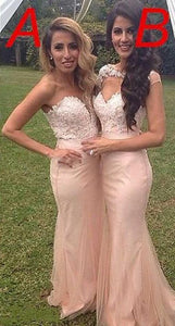 Sexy Blush Pink Sweetheart Mermaid Affordable Satin Bridesmaid Dresses Evening Dresses