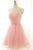 Pink Sweetheart Cut Out Tulle Knee Length Homecoming Dresses Cocktail Dresses - NICEOO