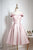 Pink A Line Off Shoulder Knee Length Homecoming Dresses Cocktail Dresses - NICEOO