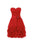 Simple Red Strapless Empire Waist Chiffon Homecoming Dresses Cocktail Dresses