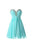 Blue Sweetheart Empire Waist Homecoming Dresses Affordable Cocktail Dresses With Rhinestone
