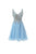 A Line V Neck Cross Back Chiffon Homecoming Dresses Cocktail Dresses With Rhinestone - NICEOO