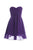 Purple Sweetheart Chiffon Homecoming Dresses Cheap Cocktail Dresses - NICEOO