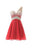 A Line One Shoulder Sweetheart Open Back Chiffon Homecoming Dresses Cocktail Dresses With Rhinestones - NICEOO