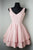 Simple V Neck Strapless Short Homecoming Dresses Affordable Cocktail Dresses