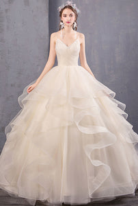 Elegant Spaghetti Straps wedding dresses Tulle bridal dresses