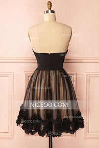 Cute Sweetheart Satin Mini Homecoming Dresses Best Cocktail Dresses - NICEOO
