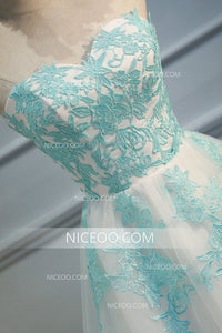 Elegant A line Sweetheart Knee Length Tulle Homecoming Dress Best Prom Dress - NICEOO