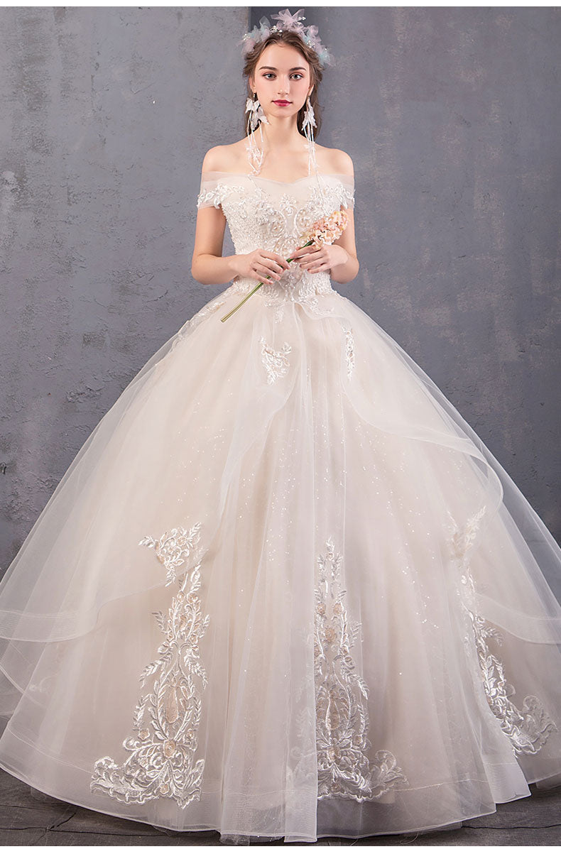 Wedding Elegant Wedding Gown For Chubby Girl