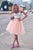 Cute Two Pieces Spaghetti Strap Knee Length Tulle Homecoming Dresses Sweet 16 - NICEOO