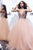 Sequins Long Prom Dresses Tulle A-Line V-Neck Evening Dresses