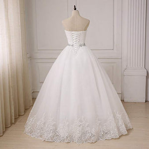 Sweetheart Tulle Wedding Dresses Bridal Plus Size Ball Gowns