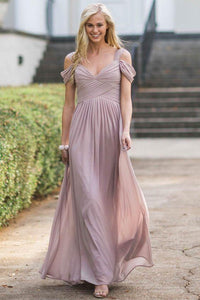 Elegant  Chiffon Bridesmaid Dresses with Off shoulder