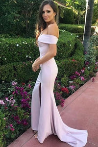 Sexy Mermaid Off shoulder Bridesmaid Dresses with Side Slit