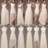 Elegant White Six Styles Sleeveless Empire Waist Chiffon Bridesmaid Dresses Evening Dresses