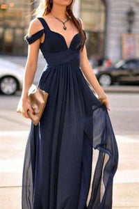 Gray A Line Off Shoulder Sweetheart Chiffon Prom Dresses Cheap Bridesmaid Dresses