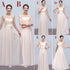 Elegant White Six Styles Sweetheart Sleeveless Chiffon Bridesmaid Dresses Long Evening Dresses